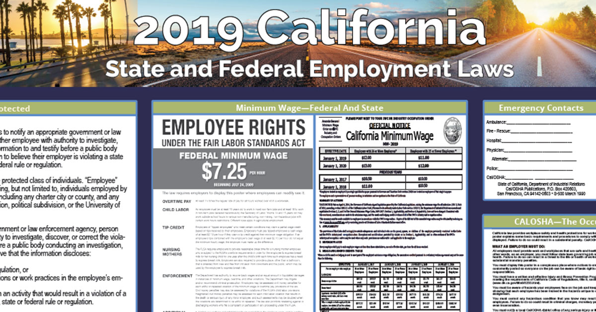 California Employers Association 2019 Labor Law Poster