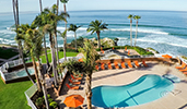 Pismo Beach hotel with swimming pool and ocean view